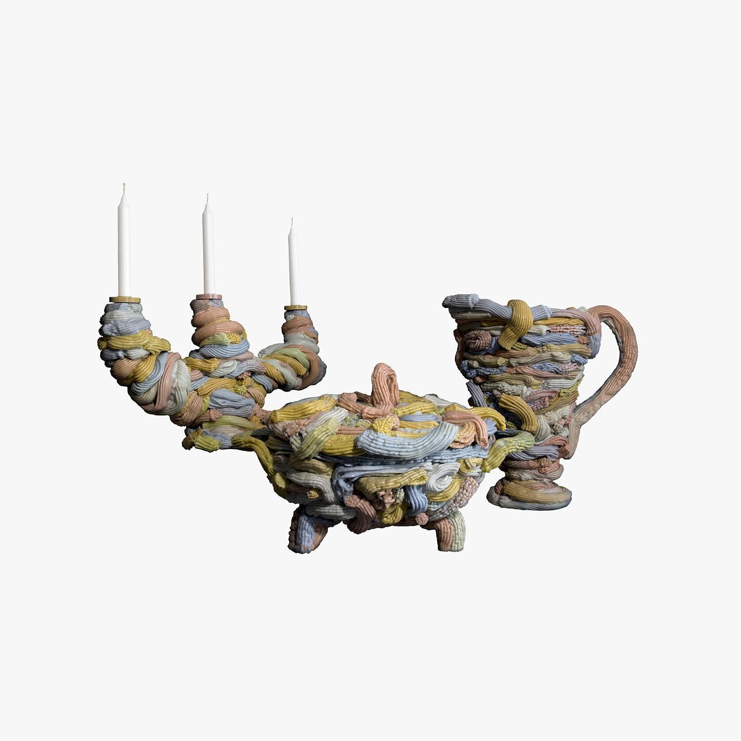 Plastic Baroque Ceremonial Tableware Group: Candelabra