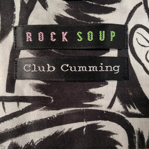 Club Cumming SS Button-Down Shirt | Black & White