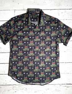 Daniel Johnston SS Button-Down Shirt | Navy