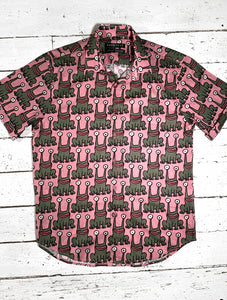 Daniel Johnston SS Button-Down Shirt | Pink