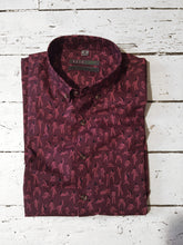 SARA MAESE SS Button-Down Shirt- BURGUNDY