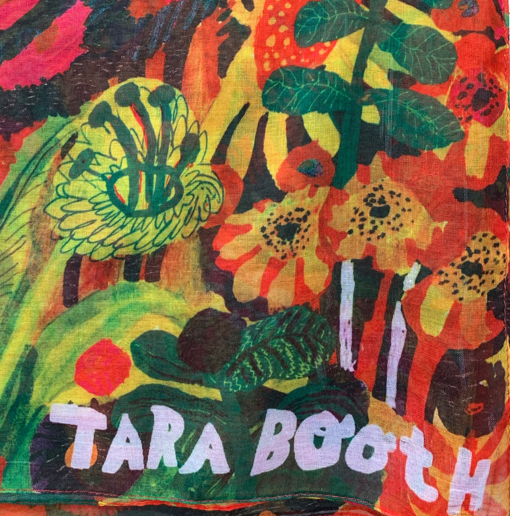 TARA BOOTH Oversized Art Scarf | Floral