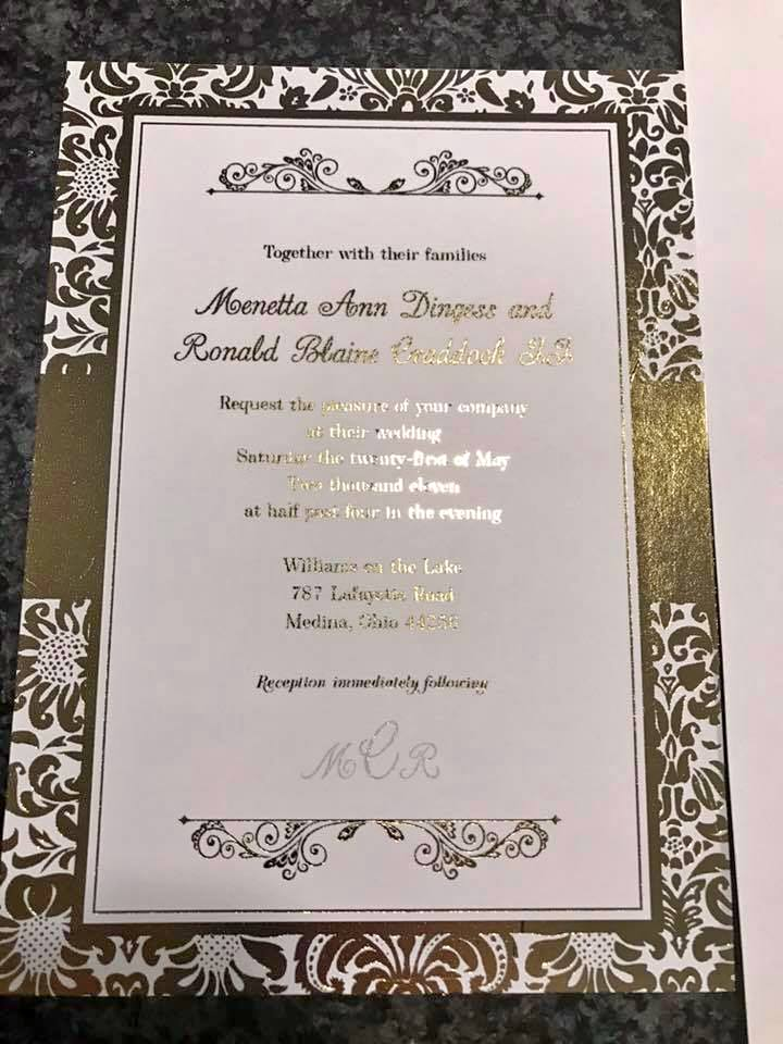foil wedding party invitations stationary tong graphics and gifts