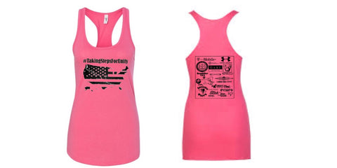 Taking Steps For Unity Women Racerback Tank