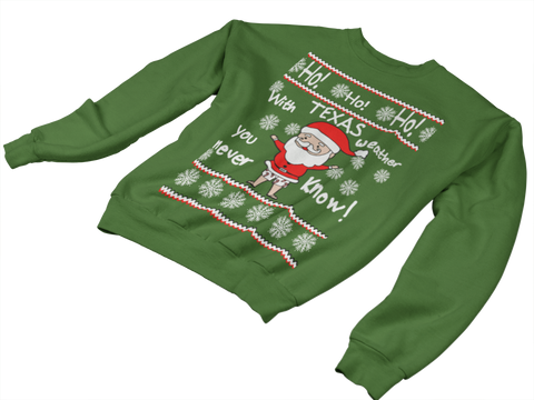 Texas Santa- Adult Sweater