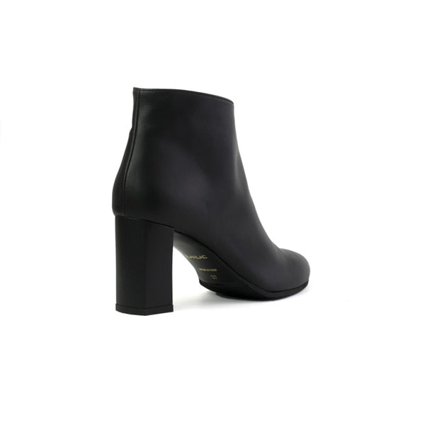 ALTHEA black Boots made in smooth vegan leather -  ALTHEA bottines noires en cuir végan lisse -  ALTHEA stivaletti neri in cuoio vegano liscio