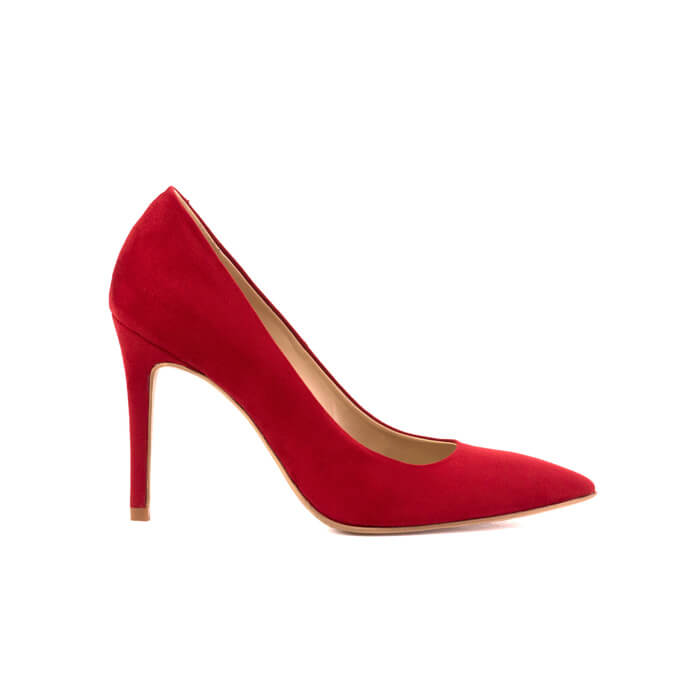 Galatella red stiletto made with smooth vegan leather - Galatella stiletto rosso in cuoio vegano liscio - Galatella escarpins rouges en cuir végan lisse