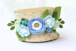 Classics || Sky Felt Flower Crown