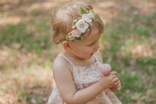 Load image into Gallery viewer, blush felt flower crown by Posy and Pom