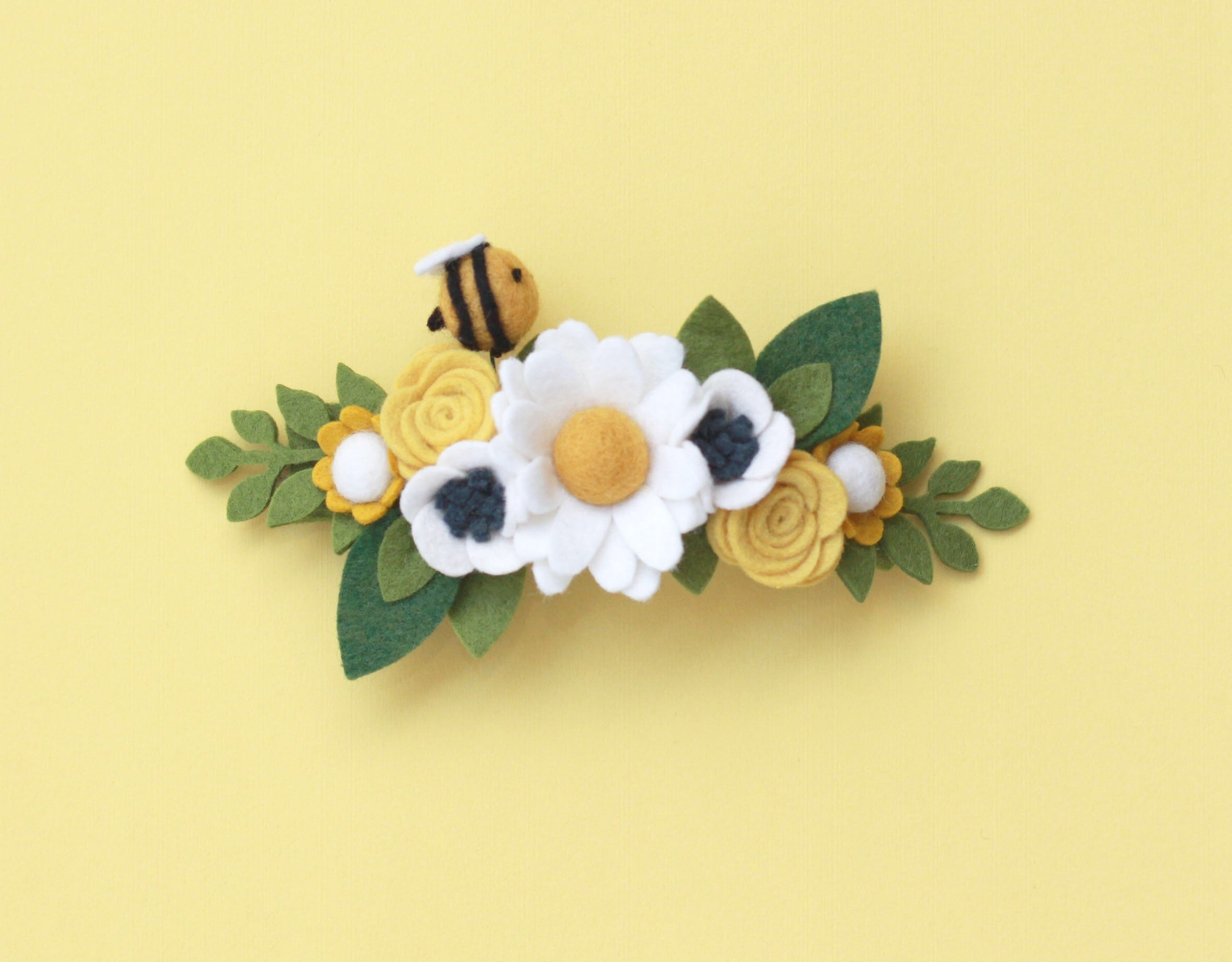 Honeybee felt flower crown by Posy and Pom