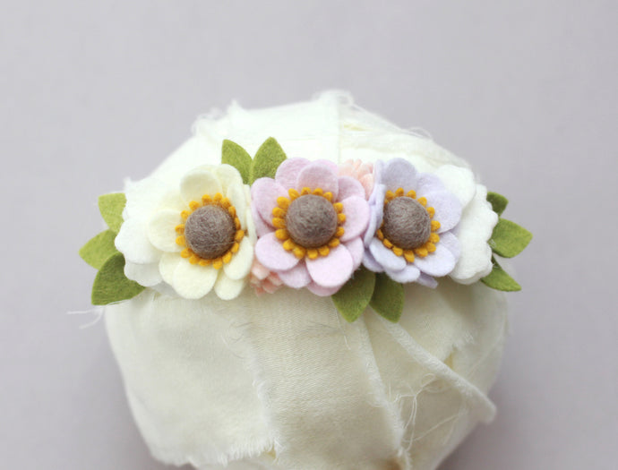 FARM FRESH || Mini Anemone Crown - Pastel Purples