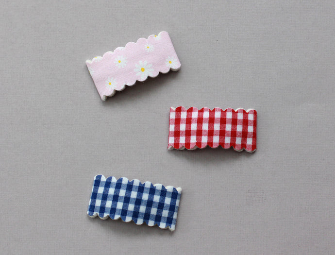 FARM FRESH || Print Fabric Snap Clips