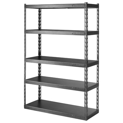 "2 of 6 images - 48"" Wide EZ Connect Rack with Five 18"" Deep Shelves (thumbnails)"