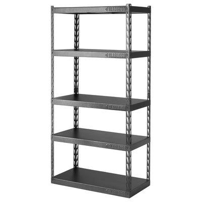 "2 of 6 images - 36"" Wide EZ Connect Rack with Five 18"" Deep Shelves (thumbnails)"