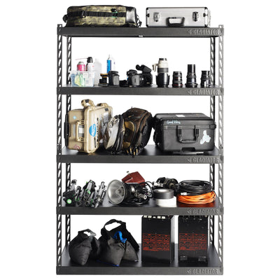 "3 of 6 images - 48"" Wide EZ Connect Rack with Five 24"" Deep Shelves (thumbnails)"
