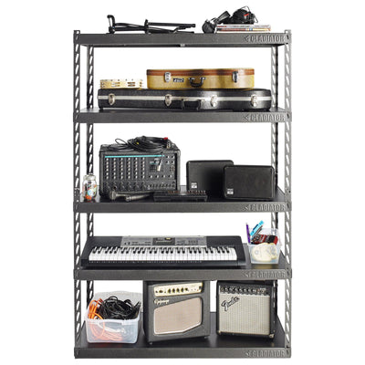 "3 of 6 images - 48"" Wide EZ Connect Rack with Five 18"" Deep Shelves (thumbnails)"