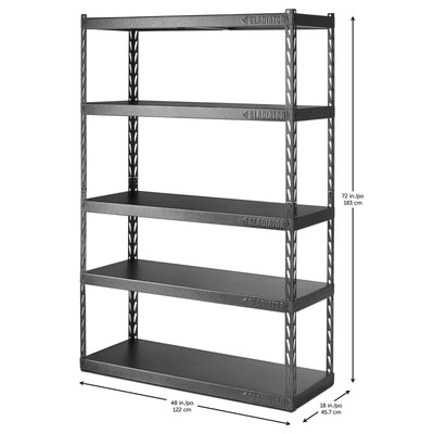 "4 of 6 images - 48"" Wide EZ Connect Rack with Five 18"" Deep Shelves (thumbnails)"