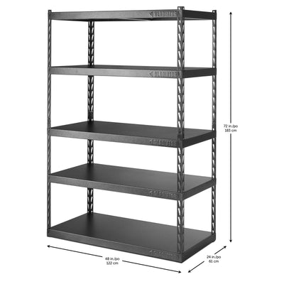 "4 of 6 images - 48"" Wide EZ Connect Rack with Five 24"" Deep Shelves (thumbnails)"