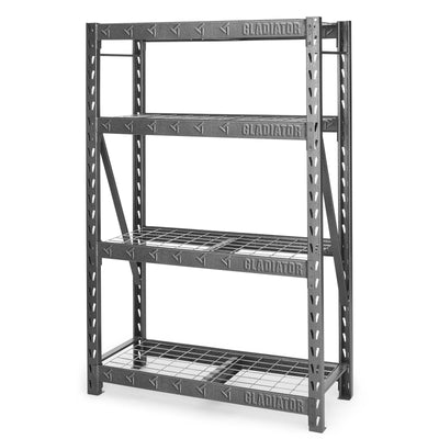 "2 of 4 images - 48"" Wide Heavy Duty Rack with Four 18"" Deep Shelves (thumbnails)"