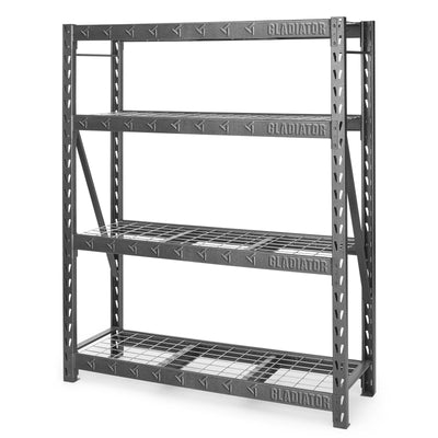 "2 of 4 images - 60"" Wide Heavy Duty Rack with Four 18"" Deep Shelves (thumbnails)"