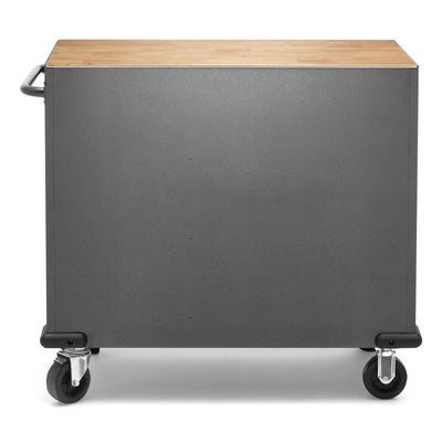 4 of 9 images - Premier 41 inch 9-drawer Mobile Tool Workbench with Solid Wood Top (thumbnails)