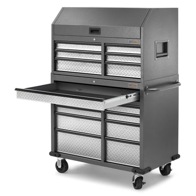 11 of 17 images - Premier 41 inch 15-drawer Mobile Tool Chest Combo (thumbnails)