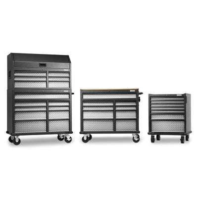 9 of 17 images - Premier 41 inch 15-drawer Mobile Tool Chest Combo (thumbnails)
