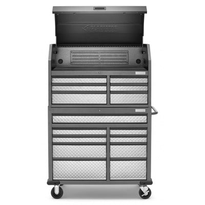 2 of 17 images - Premier 41 inch 15-drawer Mobile Tool Chest Combo (thumbnails)