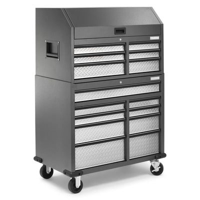4 of 17 images - Premier 41 inch 15-drawer Mobile Tool Chest Combo (thumbnails)