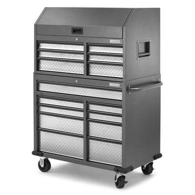 5 of 17 images - Premier 41 inch 15-drawer Mobile Tool Chest Combo (thumbnails)