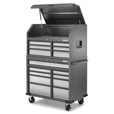 6 of 17 images - Premier 41 inch 15-drawer Mobile Tool Chest Combo (thumbnails)