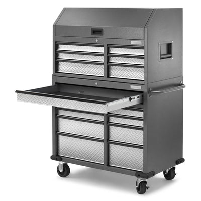 8 of 17 images - Premier 41 inch 15-drawer Mobile Tool Chest Combo (thumbnails)