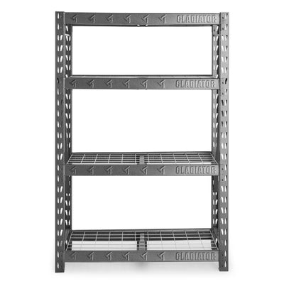 "1 of 4 images - 48"" Wide Heavy Duty Rack with Four 18"" Deep Shelves (thumbnails)"