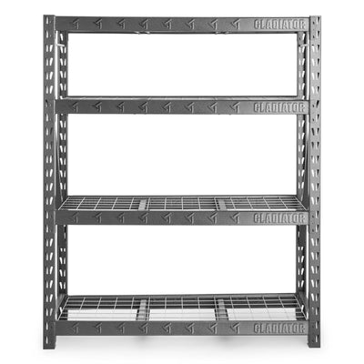"1 of 4 images - 60"" Wide Heavy Duty Rack with Four 18"" Deep Shelves (thumbnails)"