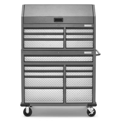 1 of 17 images - Premier 41 inch 15-drawer Mobile Tool Chest Combo (thumbnails)