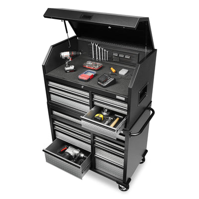 15 of 17 images - Premier 41 inch 15-drawer Mobile Tool Chest Combo (thumbnails)
