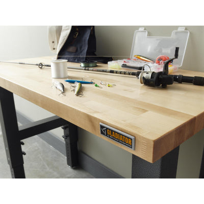 4 of 8 images - 4' Adjustable Height Hardwood Workbench (thumbnails)