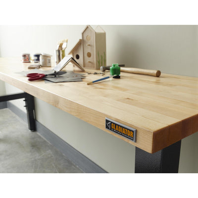5 of 10 images - 8' Adjustable Height Hardwood Workbench (thumbnails)