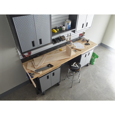 6 of 10 images - 8' Adjustable Height Hardwood Workbench (thumbnails)