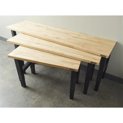 6 of 8 images - 4' Adjustable Height Hardwood Workbench (thumbnails)