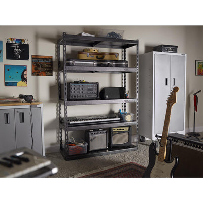 "6 of 6 images - 48"" Wide EZ Connect Rack with Five 18"" Deep Shelves (thumbnails)"