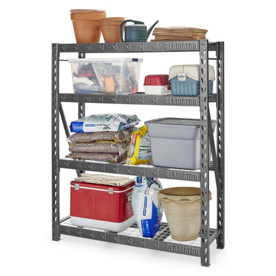 "3 of 4 images - 60"" Wide Heavy Duty Rack with Four 18"" Deep Shelves (thumbnails)"