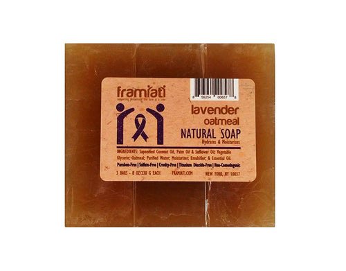 Lavender Oatmeal Soap, 8 oz (Bulk Packs)