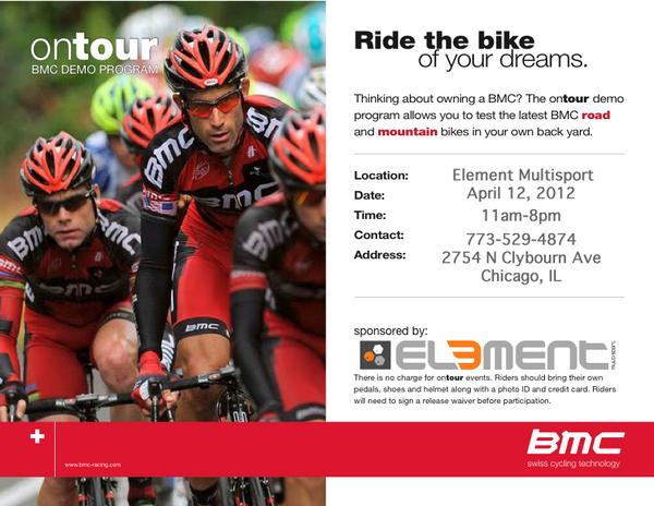 BMC on tour Demo Ride Flyer