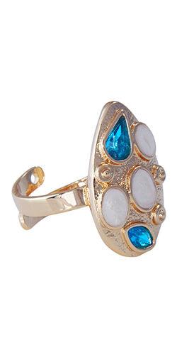 adjustable ring made in fine fantasy from colombia