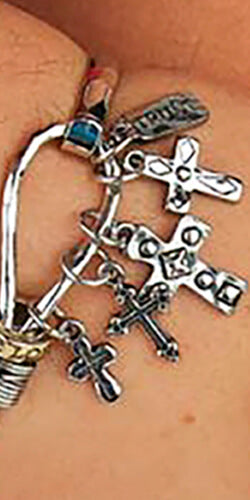 crosses charms made in colombia with fine fantasy