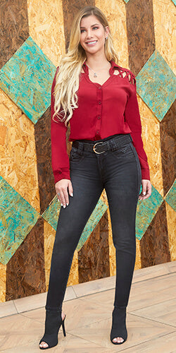 Black classic high waisted jeans