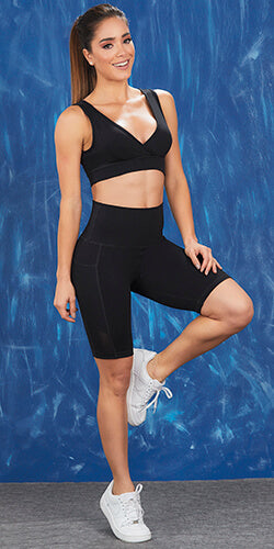 Sporty crop top features great support