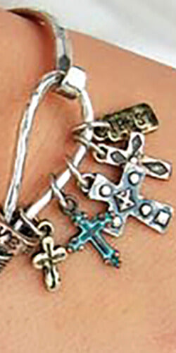 Multicolor crosses Charms