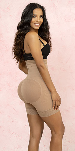 Short girdle butt lift made in Colombia